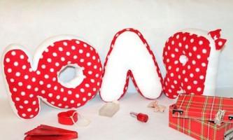 Букви-подушки - оригінальний і корисний подарунок