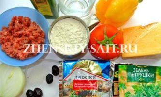Домашня піца з фаршем: рецепт на тонкому дріжджовому тесті