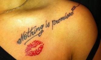 Hot kiss - модний тренд в татуюваннях