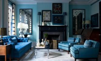 Ефектний синій колір в інтер`єрі вашого будинку або квартири (10 фото)
