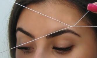 Як робити корекцію брів ниткою