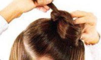 Як зробити пучок із волосся на голові, існуючі види зачіски