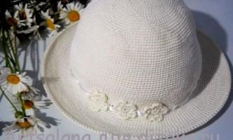 Як зв`язати річну капелюх гачком стовпчиками без накиду