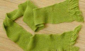 Як зв`язати простий шарф англійської гумкою