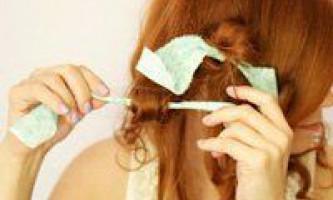 Як завити волосся на ганчірочки, техніка і методика процедури