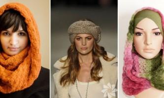 Як зав`язувати зимовий шарф на голову