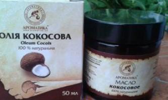 Кокосове масло: властивості, користь для особи, особливості застосування