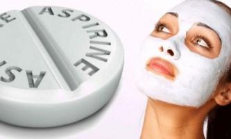 Маски для обличчя з аспірином: чудодійний ефект