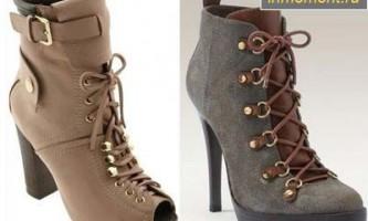 Модне взуття сезону весна 2012. Ботильйони, каблуки і модний колір взуття колекція весна 2012