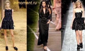 Модні сукні весна - літо 2010. Чорні, білі, кольорові сукні. Шифонові сукні. Плаття з одним плечем. Міні сукні та сукні зі шкіри 2010