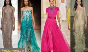 Модні вечірні сукні літо 2015