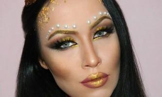 Модний макіяж на хеллоуин «золота богиня»
