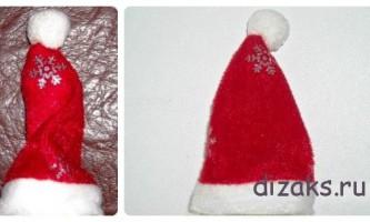 Новорічна шапка-ковпак для санта клауса своїми руками
