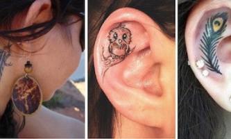 Оригінальні татуювання на вухах