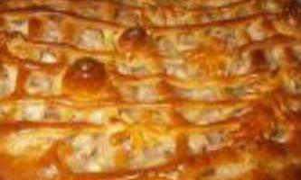 Відкритий пиріг з яблуками з солодкого дріжджового тіста