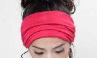 Пов`язка для волосся: як носити?