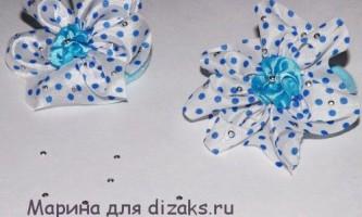 Гумки-банти для волосся з широкою атласною стрічки