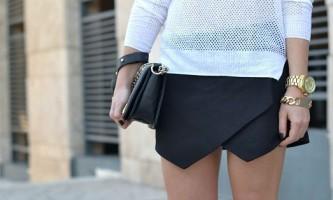 З чим краще носити спідницю-шорти? (8 фото)