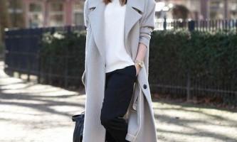 З чим носити модне сіре пальто?
