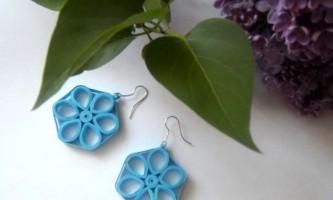 Сережки весняні квіти в техніці квіллінг своїми руками