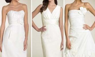 Весільні сукні сезону весна-літо 2010 року: туніки, сукні-квітка, ретро, весільні міні-сукні, корсети, атласні і кольорові сукні 2010