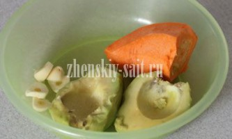 Сироедческій суп пюре з авокадо і моркви