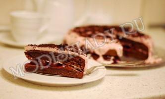 Торт «чорний ліс» - смачно і красиво!