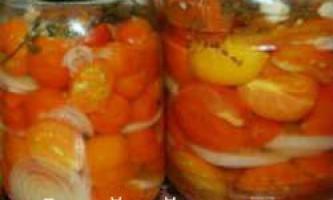 Смачні мариновані помідори часточками