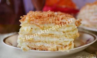 Заварний торт, рецепт з фото