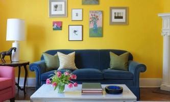 Жовті барви в інтер`єрі квартири
