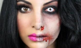 Зомбі - покроковий макіяж